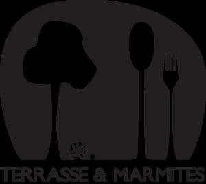 Terrasse et marmites